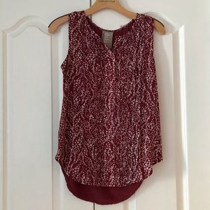 Dolan Left Coast Red White Knit Top Anthropologie